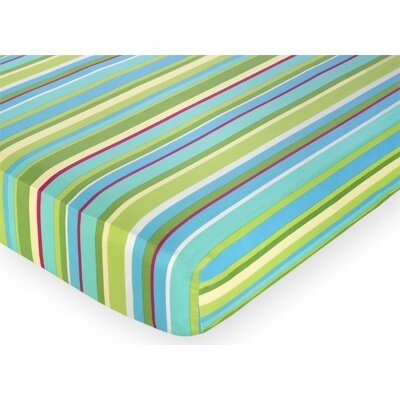 Sweet Jojo Designs Layla Fitted Stripe Print Crib Sheet