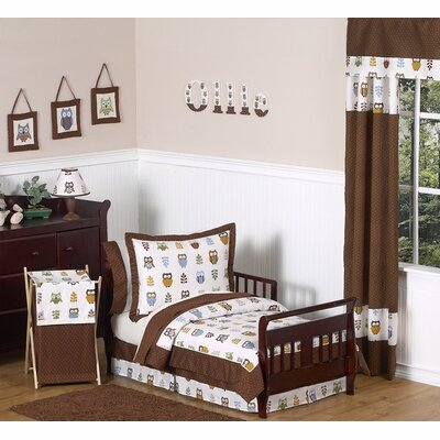 Sweet Jojo Designs Night Owl Collection 5pc Toddler Bedding Set