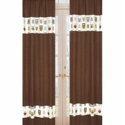 Sweet Jojo Designs Owl Collection Window Panels