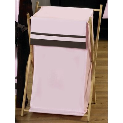 Hotel Pink and Brown Laundry Hamper