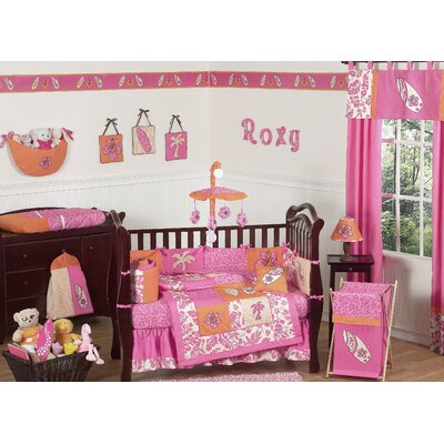 Sweet Jojo Designs Surf Pink Crib Bedding Collection