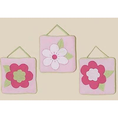 Sweet Jojo Designs Flower Pink and Green Hanging Art