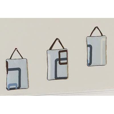 Sweet Jojo Designs Geo Blue Collection Wall Hangings