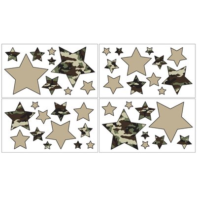 Sweet Jojo Designs Camo Green Collection Wall Decal Stickers