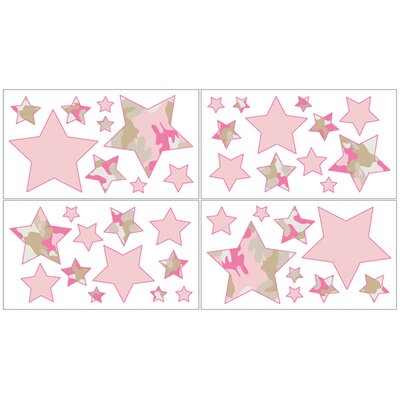 Sweet Jojo Designs Camo Pink Collection Wall Decal Stickers