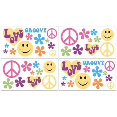 Sweet Jojo Designs Groovy Wall Decal 4 piece set