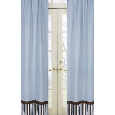 Sweet Jojo Designs Starry Night Rod Pocket Curtain Panel Pair with Valances