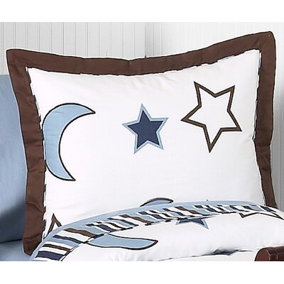 Sweet Jojo Designs Starry Night Collection Standard Pillow Sham