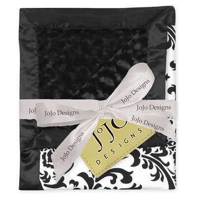 Sweet Jojo Designs Isabella Black and White Collection Baby Blanket