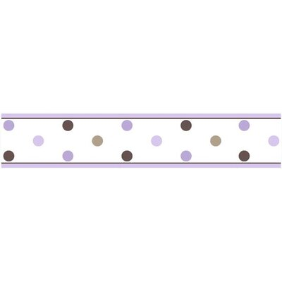 Sweet Jojo Designs Mod Dots Purple Collection Wall Paper Border