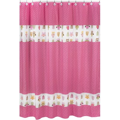 Sweet Jojo Designs Happy Owl Pink Shower Curtain