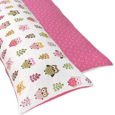 Sweet Jojo Designs Owl Pink Collection Body Pillow Case