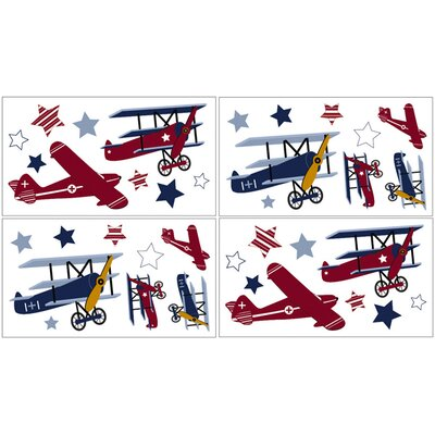 Vintage Aviator Collection Wall Decal Stickers