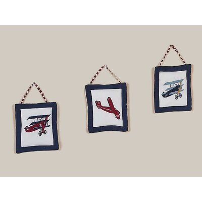 Vintage Aviator Collection Wall Hangings 3 Piece Set