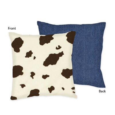Sweet Jojo Designs Cowgirl Decorative Pillow with Cow Print