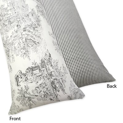 Black Toile Collection Body Pillow Case