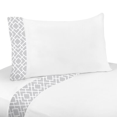 Sweet Jojo Designs Gray and White Diamond Twin Sheet Set