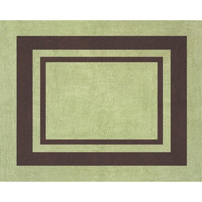 Hotel Green and Brown Collection Floor Rug