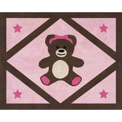 Teddy Bear Pink Collection Floor Rug