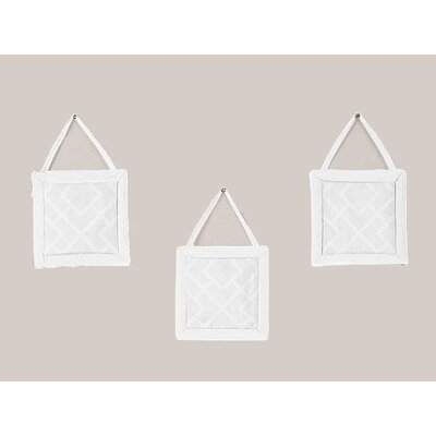 Sweet Jojo Designs Diamond White Collection Wall Hangings (Set of 3)