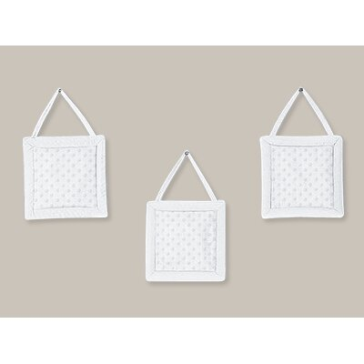Minky Dot White Collection Wall Hangings (Set of 3)
