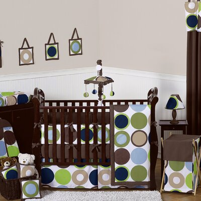 Designer Dot 9 Piece Crib Bedding Collection