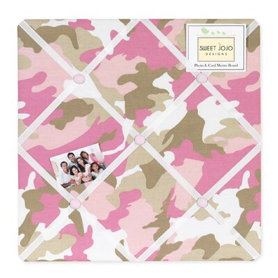 Sweet Jojo Designs Camo Pink Collection Memo Board