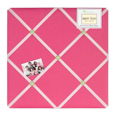 Sweet Jojo Designs Flower Pink and Green Collection Memo Board