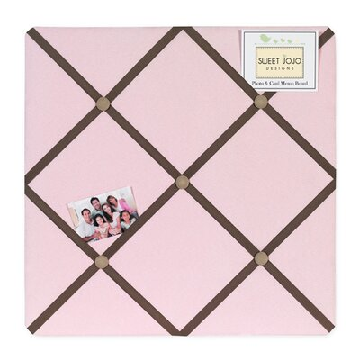 Sweet Jojo Designs Soho Pink and Brown Collection Memo Board