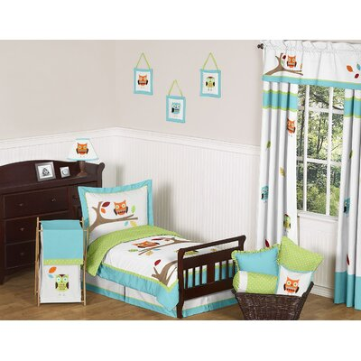 Sweet Jojo Designs Hooty Turquoise and Lime Toddler Bedding Collection