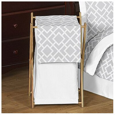 Sweet Jojo Designs Diamond Gray and White Laundry Hamper