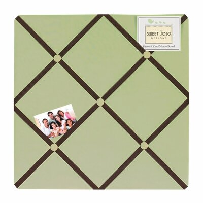 Sweet Jojo Designs Hotel Green and Brown Collection Memo Board