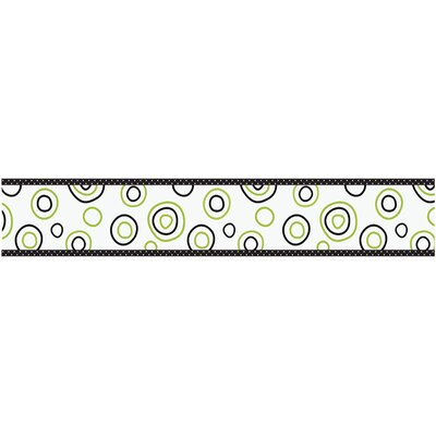 Lime and Black Spirodot Collection Wall Paper Border