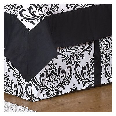 Sweet Jojo Designs Black and White Isabella Collection Queen Bed Skirt