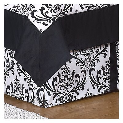 Sweet Jojo Designs Black and White Isabella Collection Toddler Bed Skirt