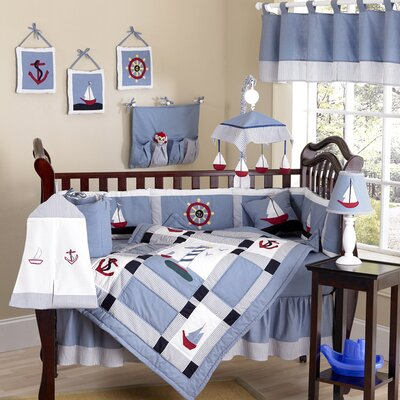 Sweet Jojo Designs Come Sail Away Crib Bedding Collection