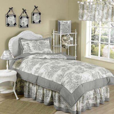 Black Toile Kid Twin Bedding Collection