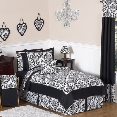 Isabella Hot Pink, Black and White Comforter Set