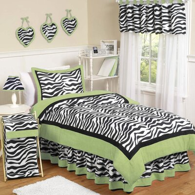 Zebra Lime Kid Bedding Collection