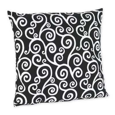 Madison Decorative Pillow with Scroll Print