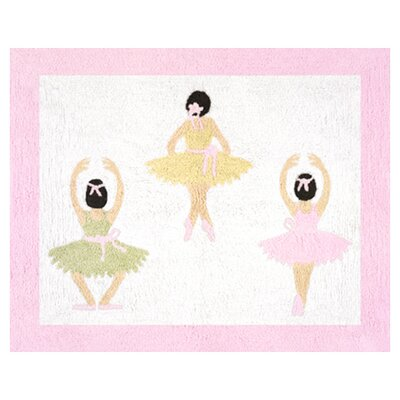 Sweet Jojo Designs Ballerina Collection Floor Rug