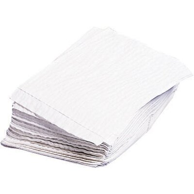 Dry Disposable Cellulose Washcloth in White
