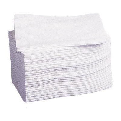 Dry Disposable Deluxe Weight Washcloth in White