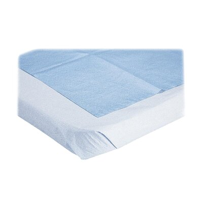 "Medline Stretcher Sheet, Disposable, 40""x72"", 50/BX, Blue"