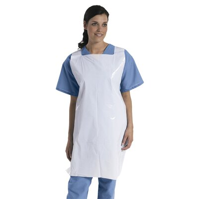 Medline Pullover-Style Apron in White