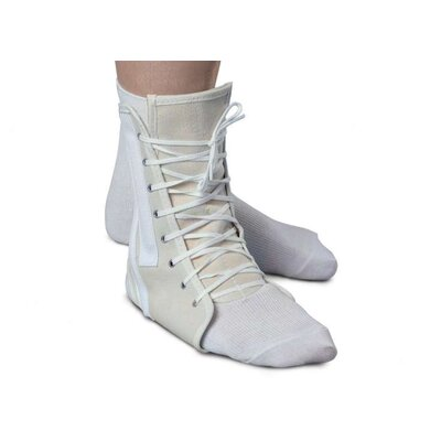Medline Canvas Lace Up Ankle Support, Large, 11-13""