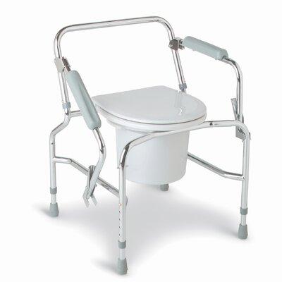 Medline Drop Arm Steel Commode
