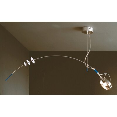 Lucifero Illuminazione Zot One Light Pendant in Chrome