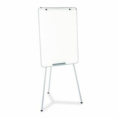 Quartet® Oval Office Dry-Erase Presentation Easel in Melamine with Gray Frame