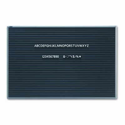 Quartet® Magnetic Wall Mount Letter Board, 36 x 24, Black, Gray Aluminum Frame